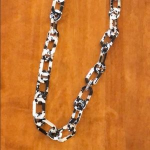 Vintage Spotted Resin Chain Link Necklace